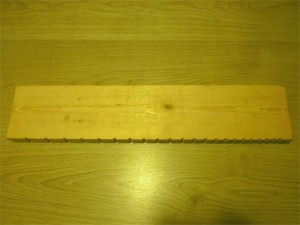 DIY homemade tool to check if the guitar neck is flat